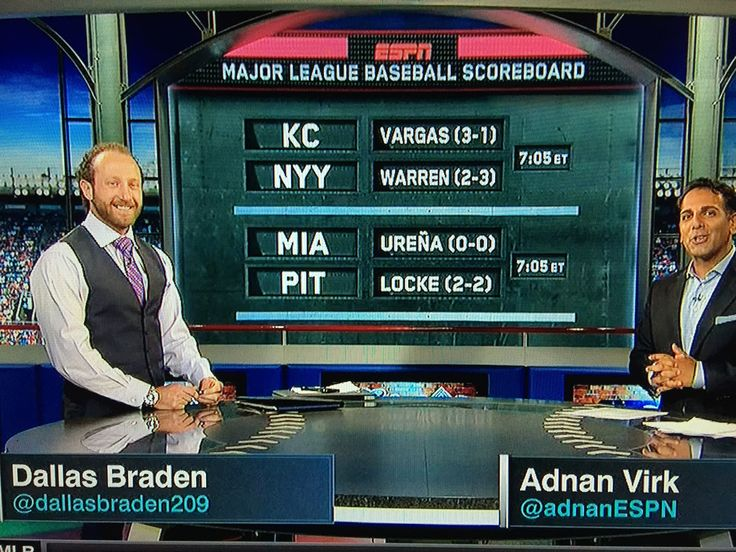 ESPN Baseball Tonight   Espn baseball, Baseball scoreboard ...
