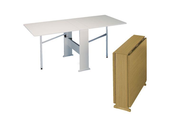 Mesa de Cocina Plegable FC-70 Con alas. Estructura en melamina. Disponible en 4 colores. Muebles Industria-Barcelona-933 571 649