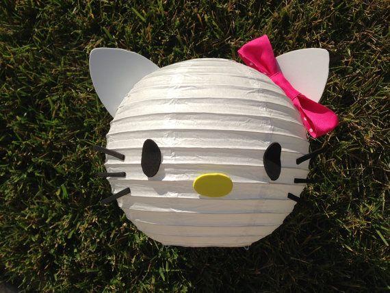 Hola Kitty inspirada decoración de linterna de papel por adingkaki
