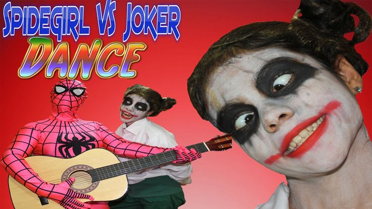 Superhero Joker vs Pink Spidergirl Make Peace !!! Old Dance Clip Funny C...