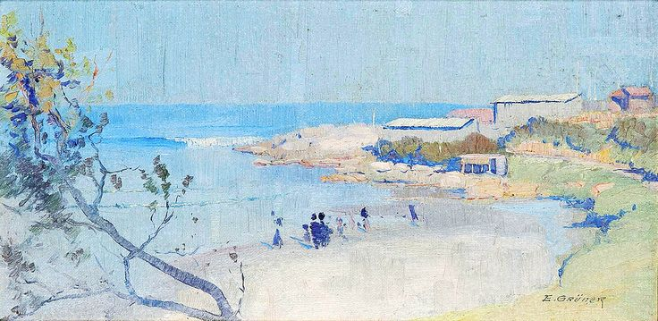 "gruner elioth little coogee sotheby (from <a href=""http://www.oldpainters.org/picture.php?/26826/category/10492""></a>)"
