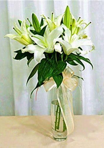 Karangan Bunga Meja Lily | Toko Bunga by Florist Jakarta