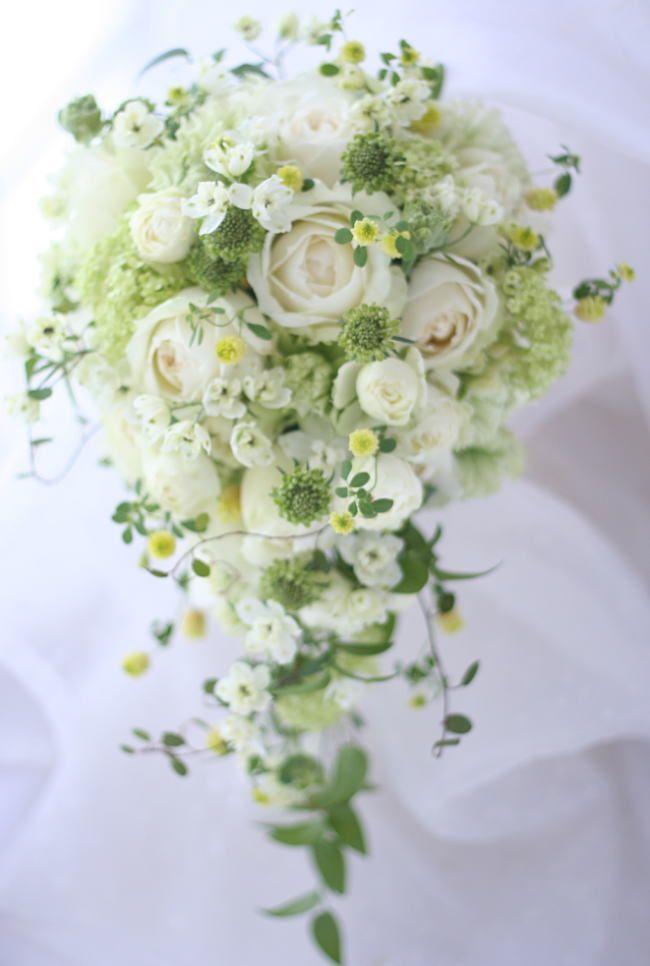 ブーケ セミキャスケード シェドゥーブルと夢ほたる : 一会 ウエディングの花