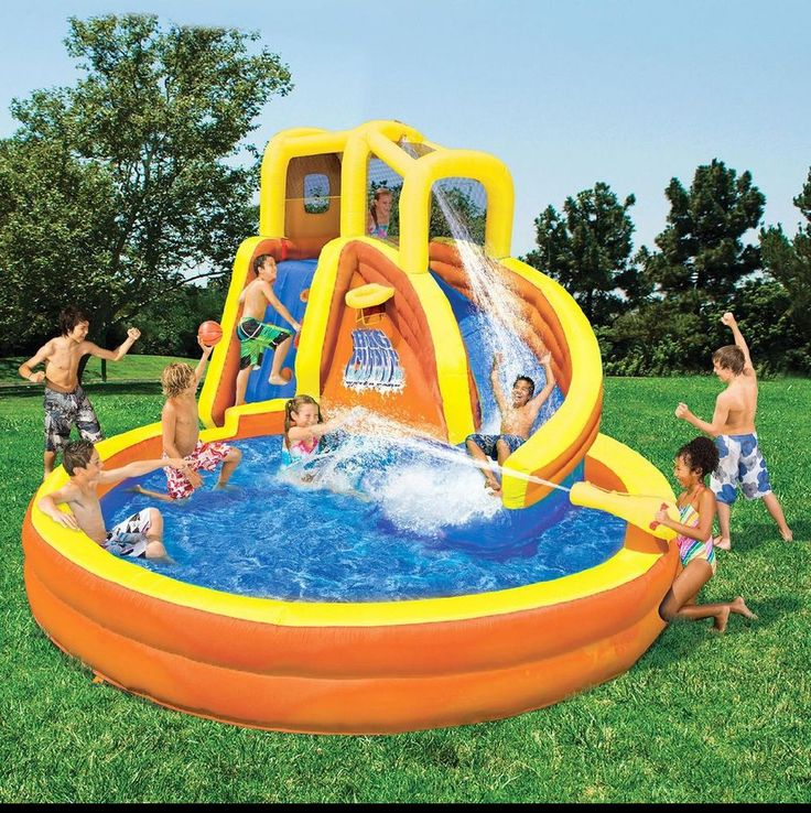 inflatable water slide wet dry bounce house bouncy kids park water
