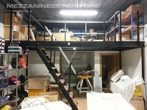 45 best mezzanine floor images on pinterest garages for Garage storage loft designs