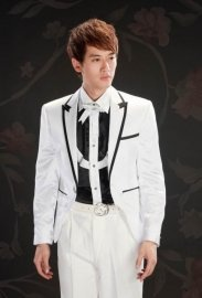 Western Style Lapelled One Button Groom Suit  $108.10