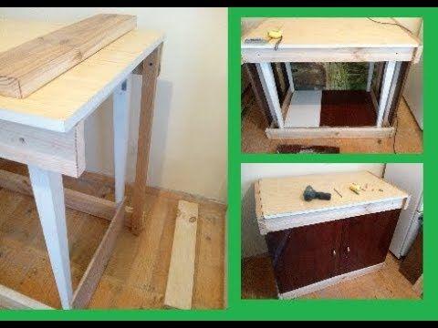 Кухонный шкафчик для дачи из старой мебели.