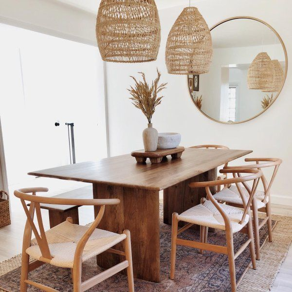 Anton Solid Wood Dining Table In 2020 Mirror Dining Room Modern Dining Table Solid Wood Dining Table