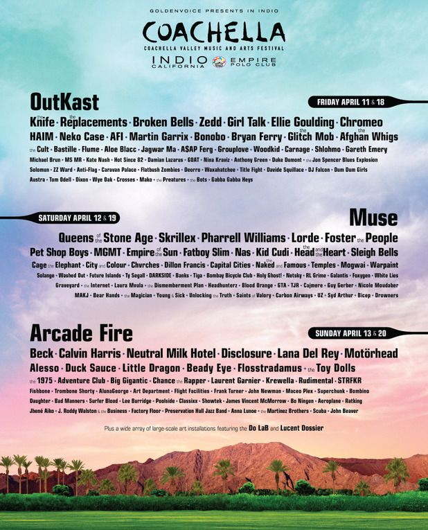 Coachella 2014 lineup: Coachella Music & Arts Festival