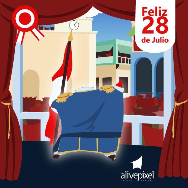 Feliz 28 de Julio Perú. @AlivePixel