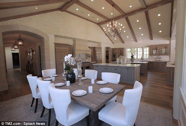 Love the color scheme of Kim and Kanye West's new home...for now. The #kitchen is quite lovely.