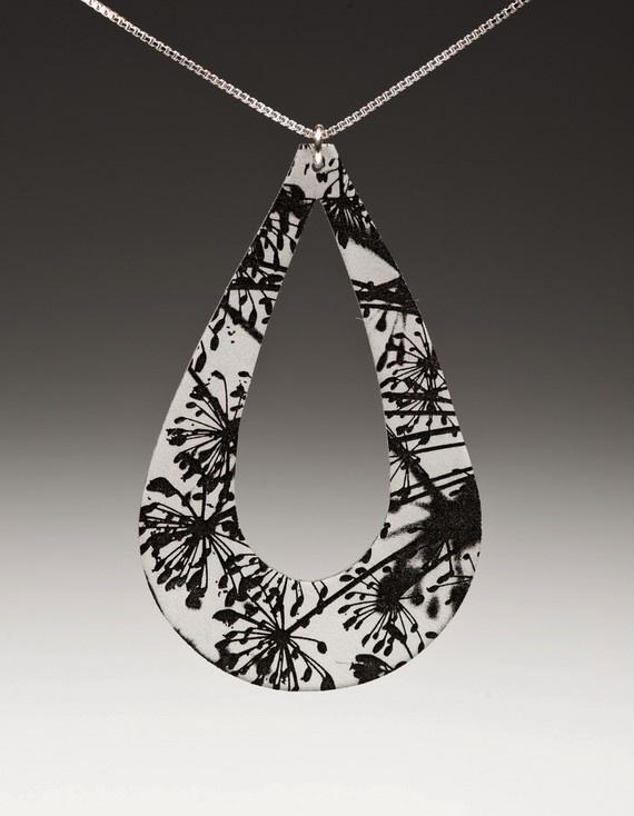 shrinky dink pendant, dill  #ecrafty @KD Eustaquio at eCrafty.com #shrinkydinks  #shrinkjewelry #shrinkcharms