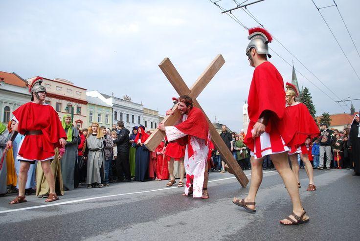 Good Friday in the center of Presov