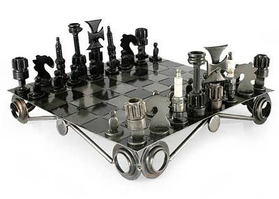 This awesome Chess Set is a conversation piece on its own! Built from used and…