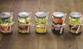 Skleničkové saláty: ideální svačinka do práce! - Tesco recepty