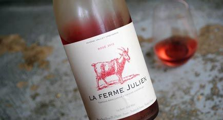 Happy Goat Wine season! Or, La Ferme Julien Rosé, season. It's spring! And this dry rose wine does not disappoint -- only $6!