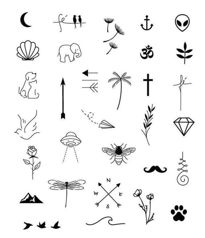 Alguns Desenhos Minimalistas Para Voces Tatuagens