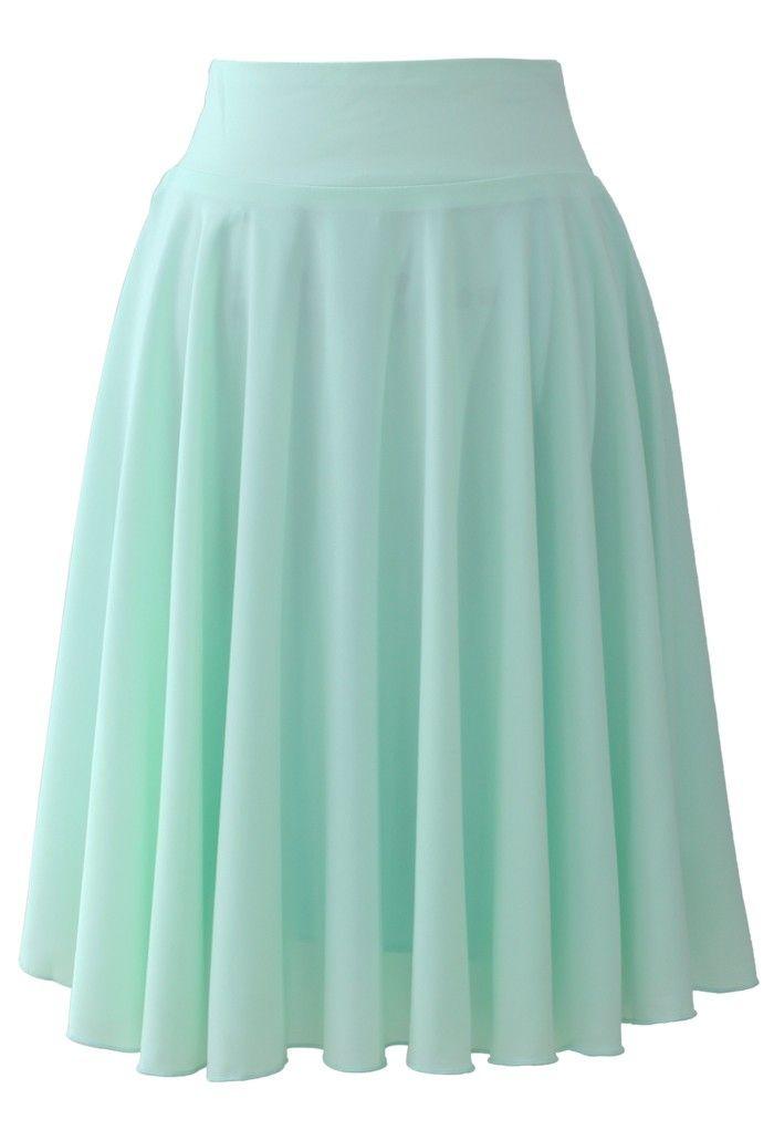 Macaron Mint Pleated Skirt