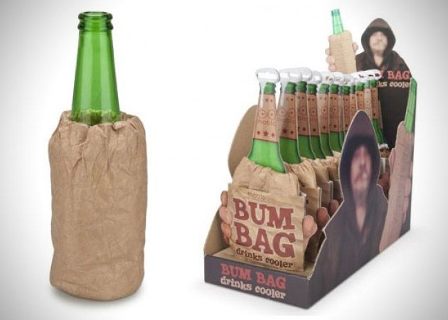 Bum Bag Drink Cooler by thabto    Made from a reusable foil that lines your drink, these bum bag drink coolers help keep your beverage cold and insulated.Brown Paper Bags, Beverages Cold, Drinks Coolers, Packaging Design, Coolers Helpful, Bags Drinks, Bags Koozies, Bum Bags, Reusable Foil