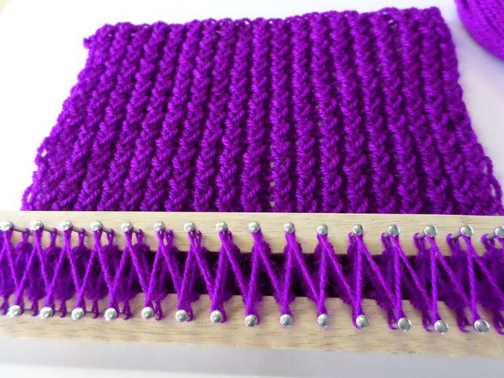 Návod na šálu z pletacího rámečku