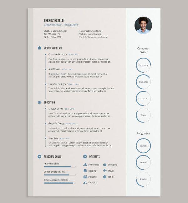 free ai simple cv design template - Template Resume Free