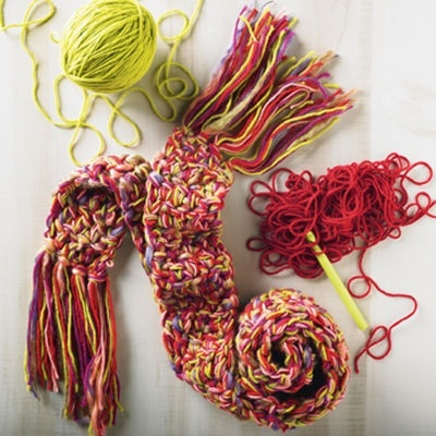 Easy Multi-color #Crochet #Scarf #MichaelsStores