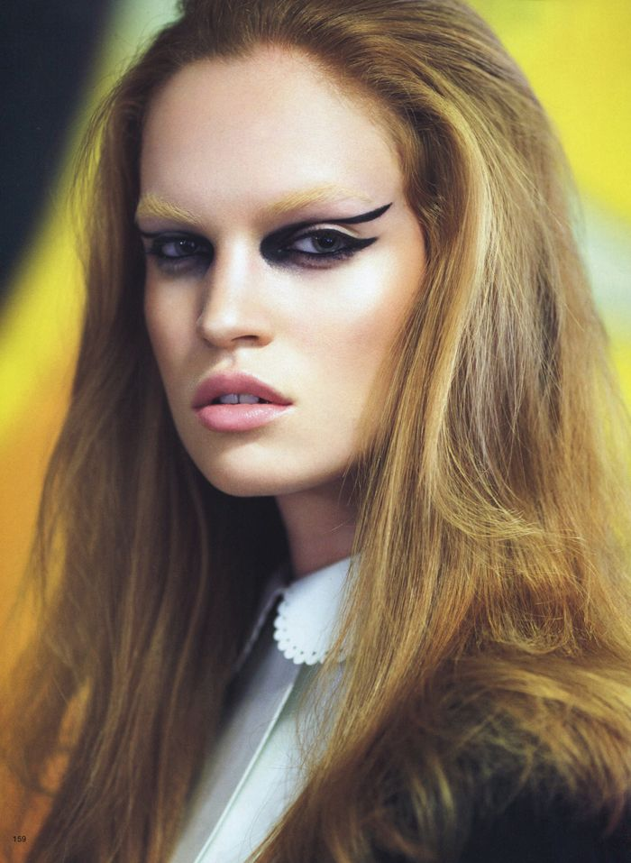 """Eyes On the Prize"" - Luisa Bianchin by Raymond Meier for Vogue Japan, September 2011 #fashion #editorial"