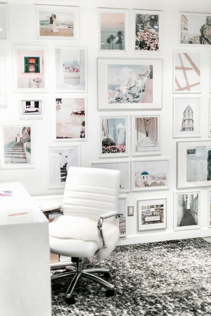My Office Gallery Wall Gallery Wall White Frames Gallery Wall