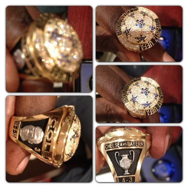 Drogba presented his former Chelsea team mates with commemorative rings worth £800,000 to celebrate their #UCL success
