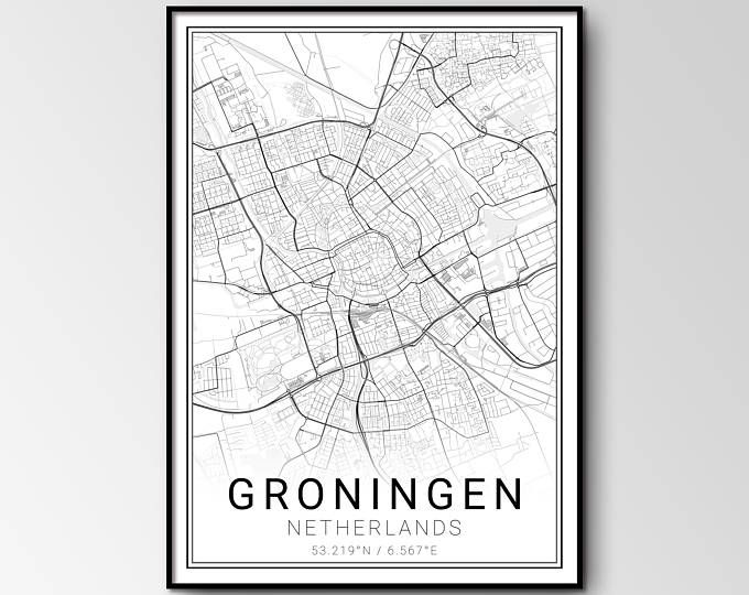 Groningen city map