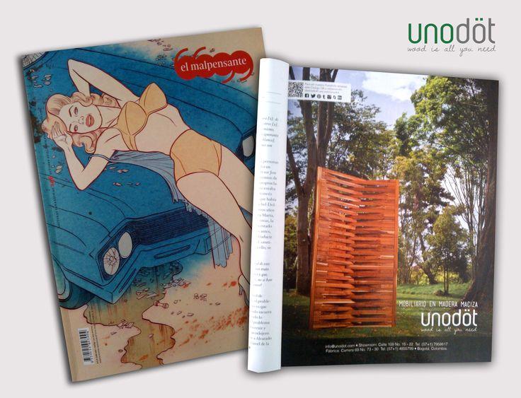 Nuestra pauta en la Revista El Malpensante de Octubre de 2013, con un elemento único, versátil y con alta riqueza estética: El Biombo.