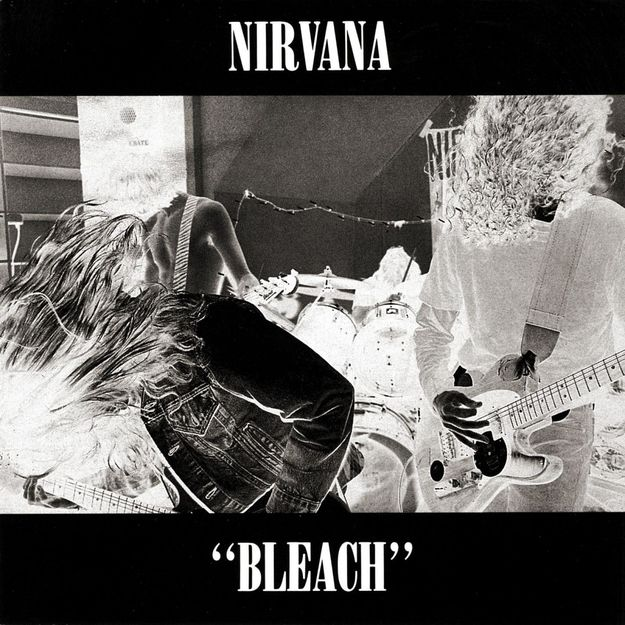 Bleach by Nirvana (1989) /42 Classic Black And White Album Covers via BuzzFeed