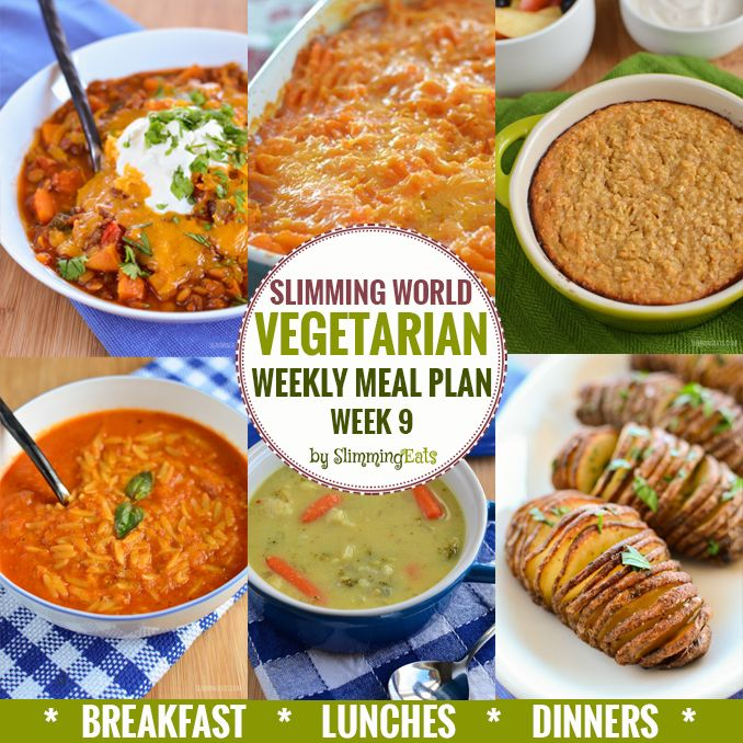 Slimming Eats Vegetarian Weekly Meal Plan - Week 9 - Slimming World - so that you can just cook and enjoy the food.
