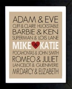 DIY Wedding Gifts Picture Frame. But would for sure change the names on this board.