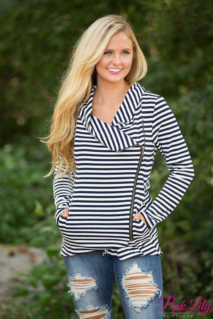 The Pink Lily - Stripe Me About It Sweater Navy , $42.00 (https://pinklily.com/stripe-me-about-it-sweater-navy/)