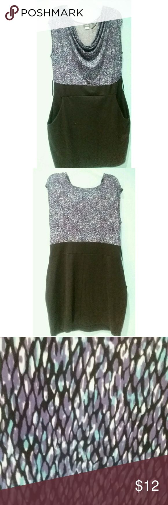 Dots plus size mini dress Slouched neckline with a pencil skirt fit...worn once. Dots Dresses