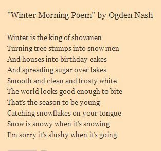 poems of ogden nash Poem analysis: more about people pictured above: ogden nash theme this critical point of view on humanity is reminiscent of themes in many of nash's poems ogden nash uses a simple form of rhyme scheme.