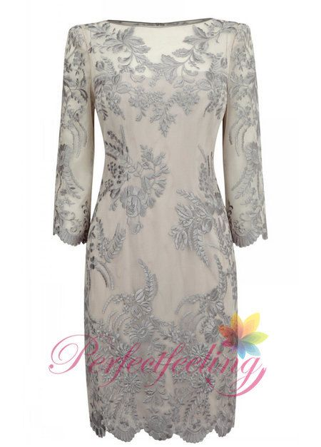 2014 New The embroidery mother of the bride dresses long sleeve Knee length formal evening dress part dress prom dress custom on Etsy, $268.81 AUD