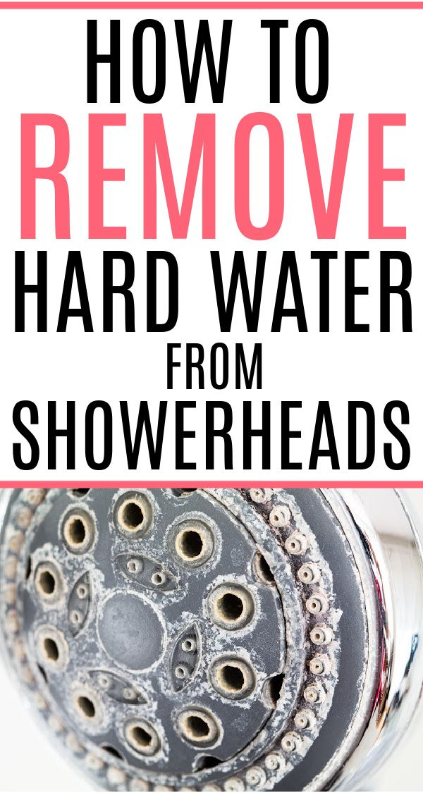 The Easiest Way To Remove Hard Water Deposits From Shower Heads Shower Heads Shower Head Cleaner Cleaning Shower Head