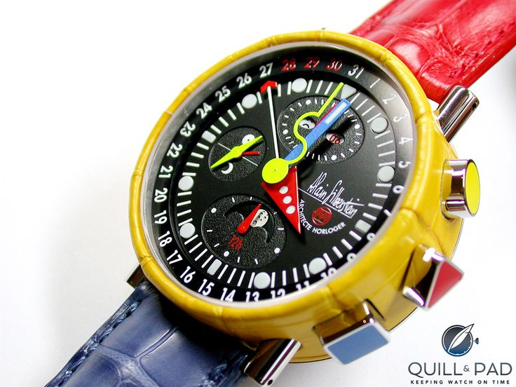 An Alain Silberstein chronograph: every color you like and then some!