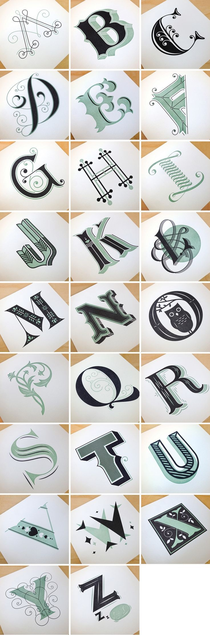 Image of Drop Cap Letterpress Prints