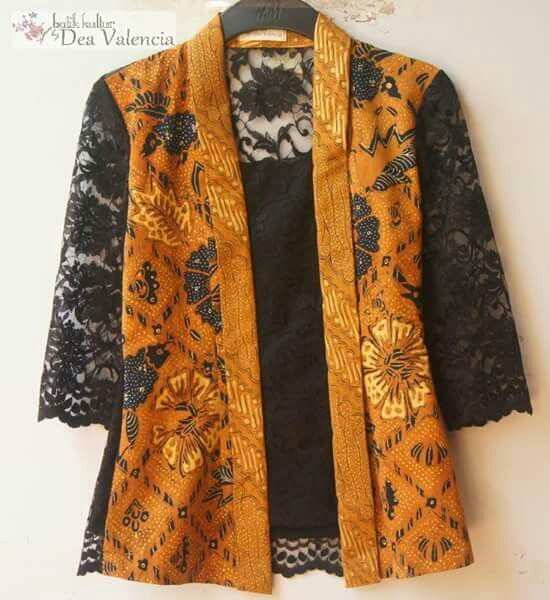 Modern batik kutu baru kebaya with laces More