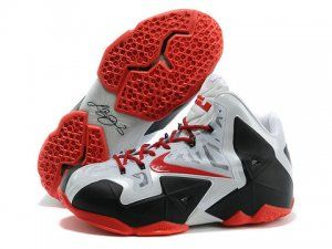 Nike LeBron 11 White Red Black Shoes are cheap sale online. Pick the new  arrival