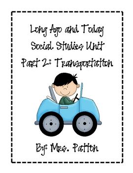 This unit explores how transportation was long ago compared to now. It includes 2 picture sorts, multiple picture cards of items long ago, as well ...