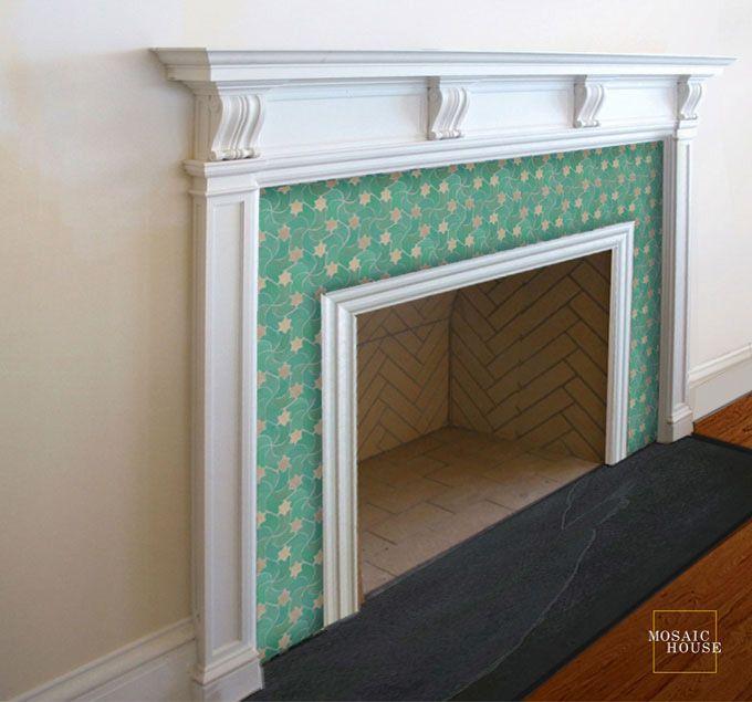 350 best mosaic fireplace images on Pinterest | Mosaic ...
