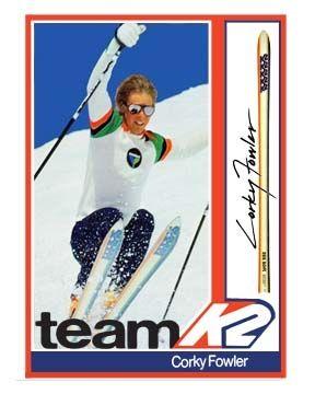 "Corey ""Corky"" Fowler Team K2 Vintage Ski Poster"