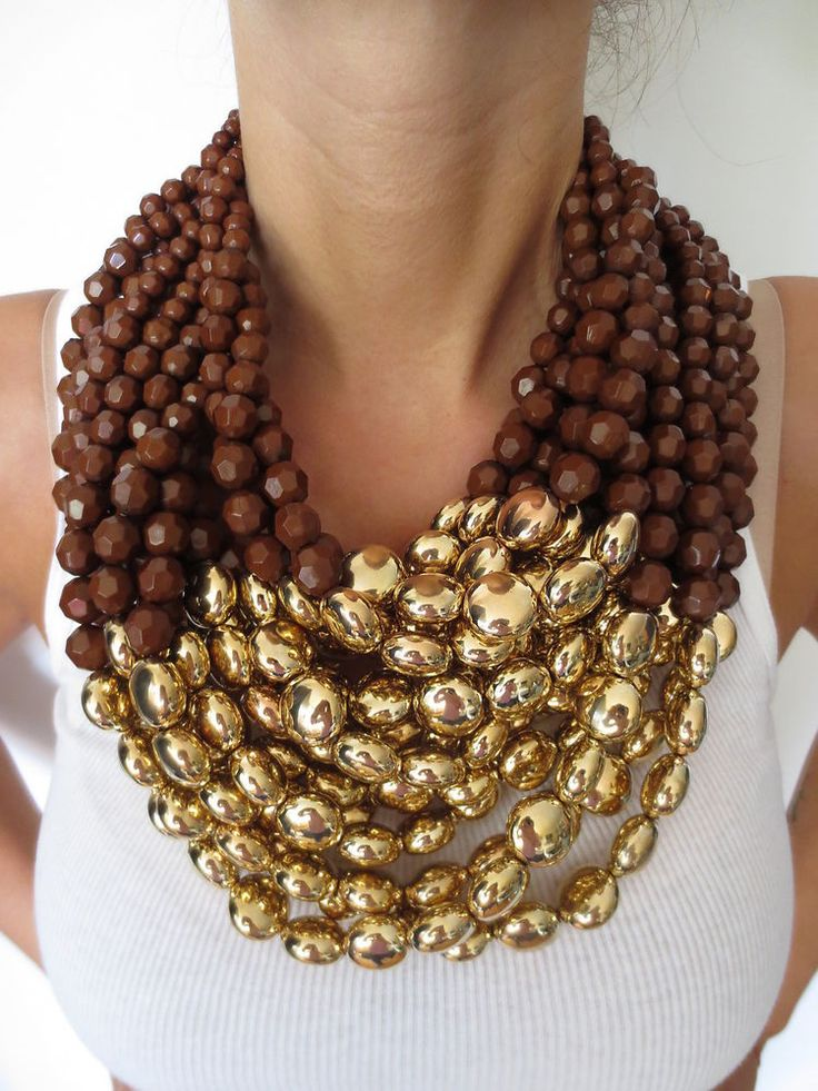 EXCEPTIONAL MASSIVE ESCADA RUNWAY COUTURE BEADED NECKLACE