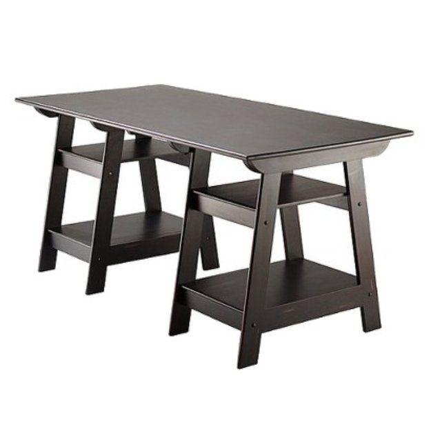 I'm learning all about Direct Import Services Writing Desk: Madison Large Trestle Desk - Antique Black at @Influenster!