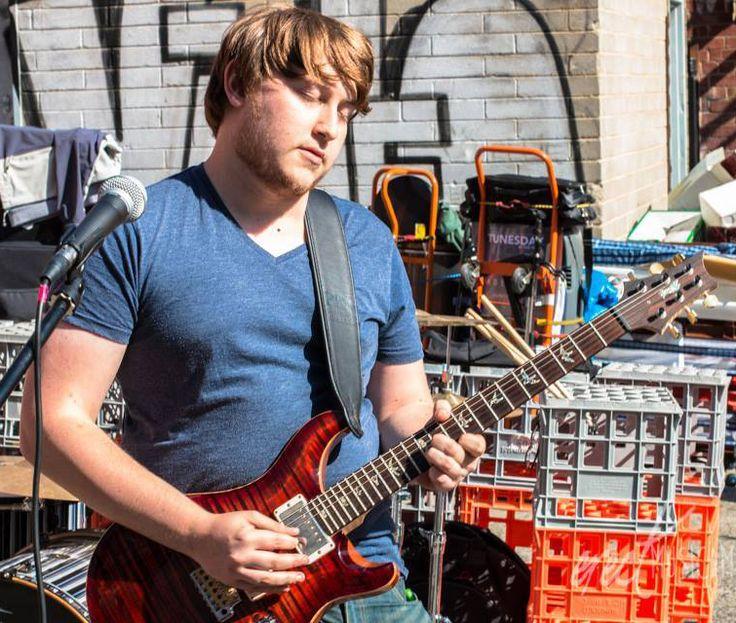 "Tim in ""the zone"". Street festival in North Melbourne"