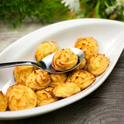 Wer braucht schon Beilagen aus Kartoffeln wenn er auch Beilagen aus Rettich, Kohlrabi oder Knollensellerie machen kann? Falsche Herzoginnen sind low carb.